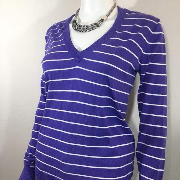 60% off J. Crew Factory Sweaters - J.Crew Factory Purple Stripe ...